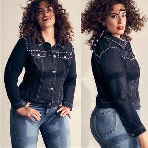 Ashley Graham X Marina Rinaldi Stud Denim Jacket